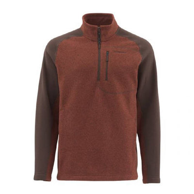 Simms Rivershed Fleece Sweater - Quarter Zip MEN - Clothing - Pullovers & Hoodies SIMMS FISHING Teskeys