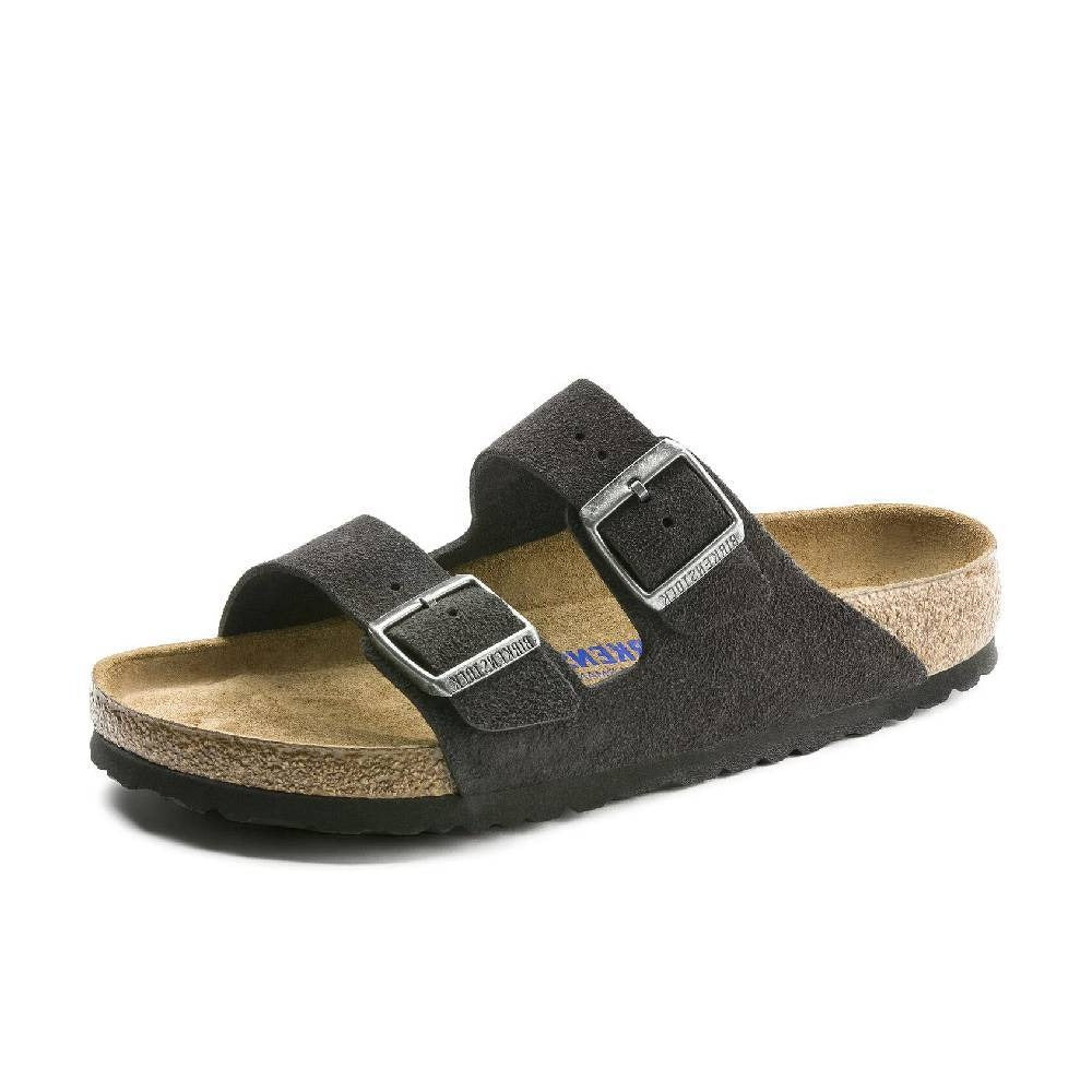 Birkenstock Arizona Soft Bed Velvet Grey WOMEN - Footwear - Casuals BIRKENSTOCK Teskeys