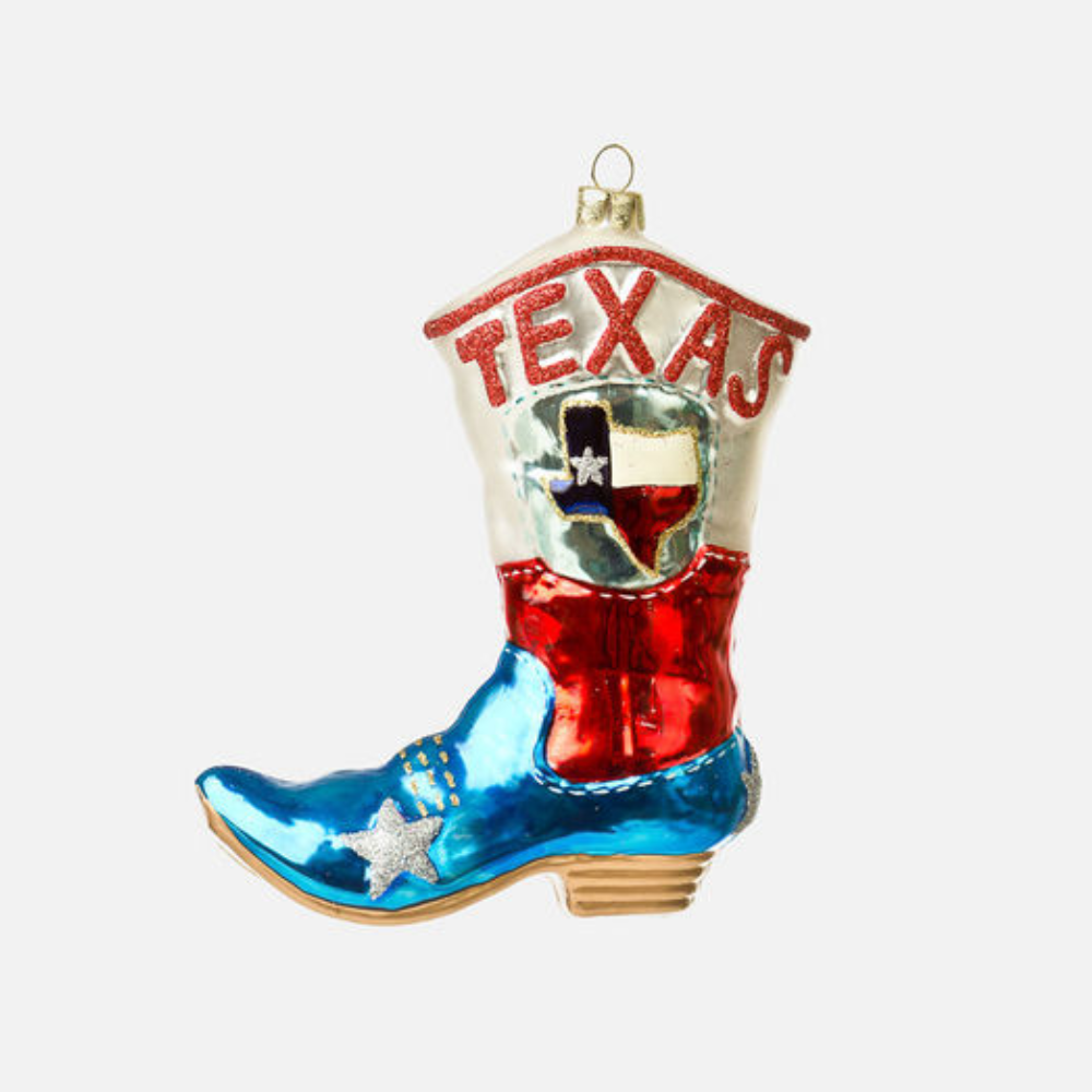 Texas Boot Ornament HOME & GIFTS - Home Decor - Seasonal Decor ONE HUNDRED 80 DEGREES Teskeys