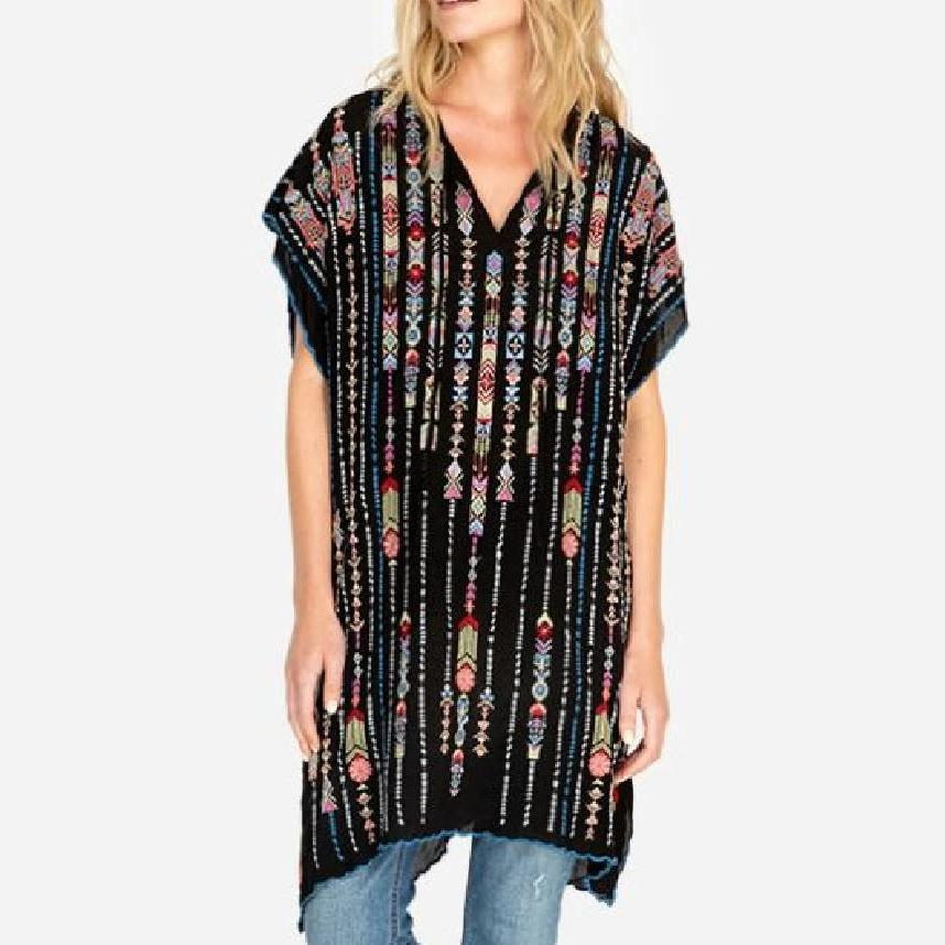 Johnny Was Trim Poncho WOMEN - Clothing - Dresses JOHNNY WAS COLLECTION Teskeys