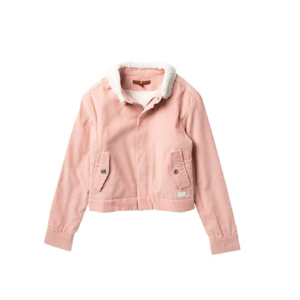 Girl's Faux Shearling Lined Corduroy Jacket