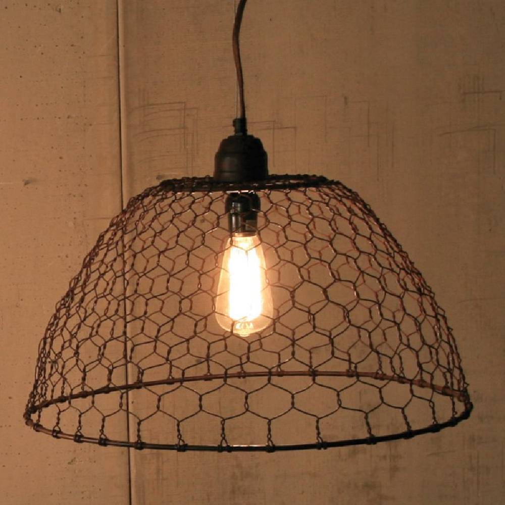 Kalalou Chicken Wire Basket Lamp HOME & GIFTS - Home Decor - Decorative Accents KALALOU Teskeys