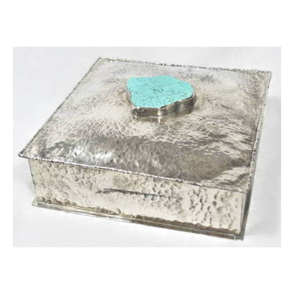 J. Alexander Square Box W/ Dimples HOME & GIFTS - Home Decor - Decorative Accents J. ALEXANDER RUSTIC SILVER Teskeys