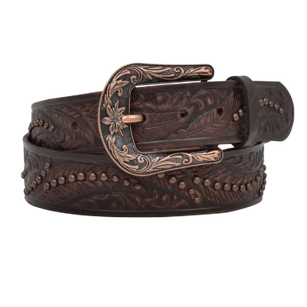 Angel Ranch Women's Feather Pattern Belt WOMEN - Accessories - Belts M&F WESTERN PRODUCTS Teskeys