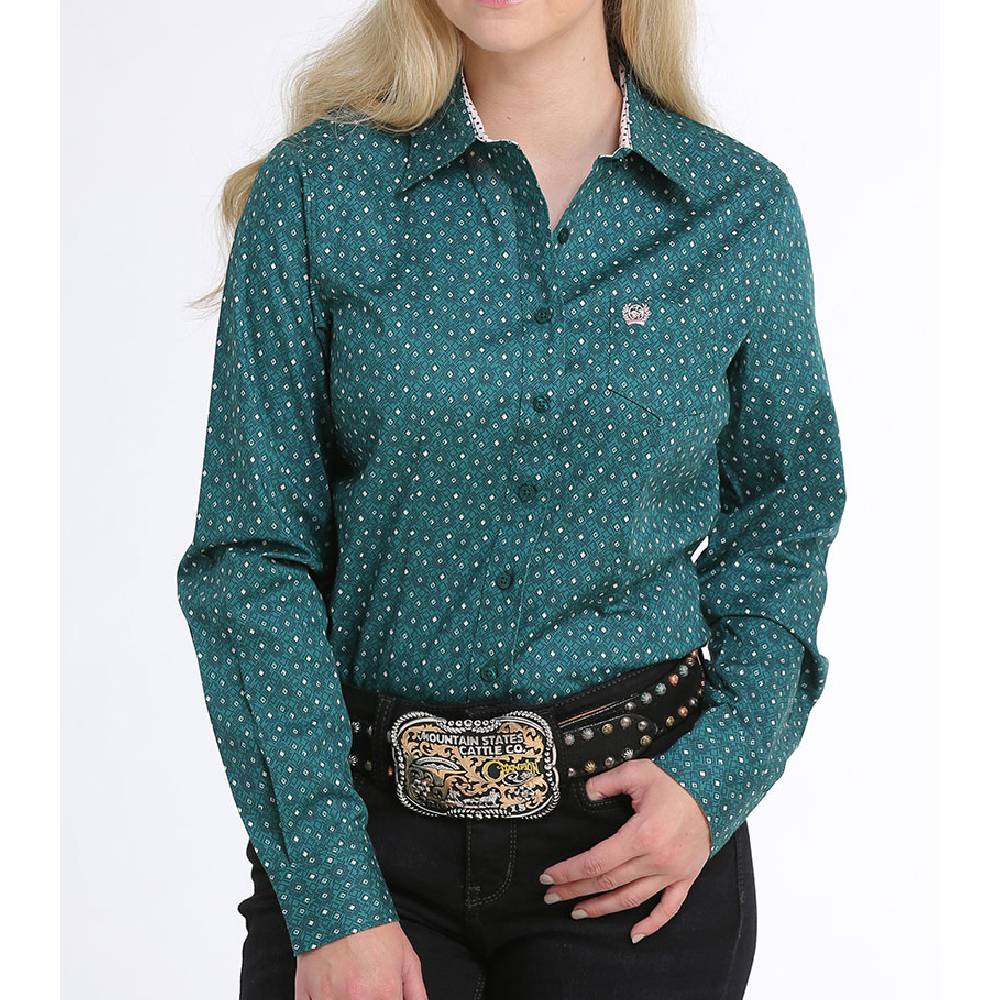 Cinch Geo Print Button Down WOMEN - Clothing - Tops - Long Sleeved CINCH Teskeys