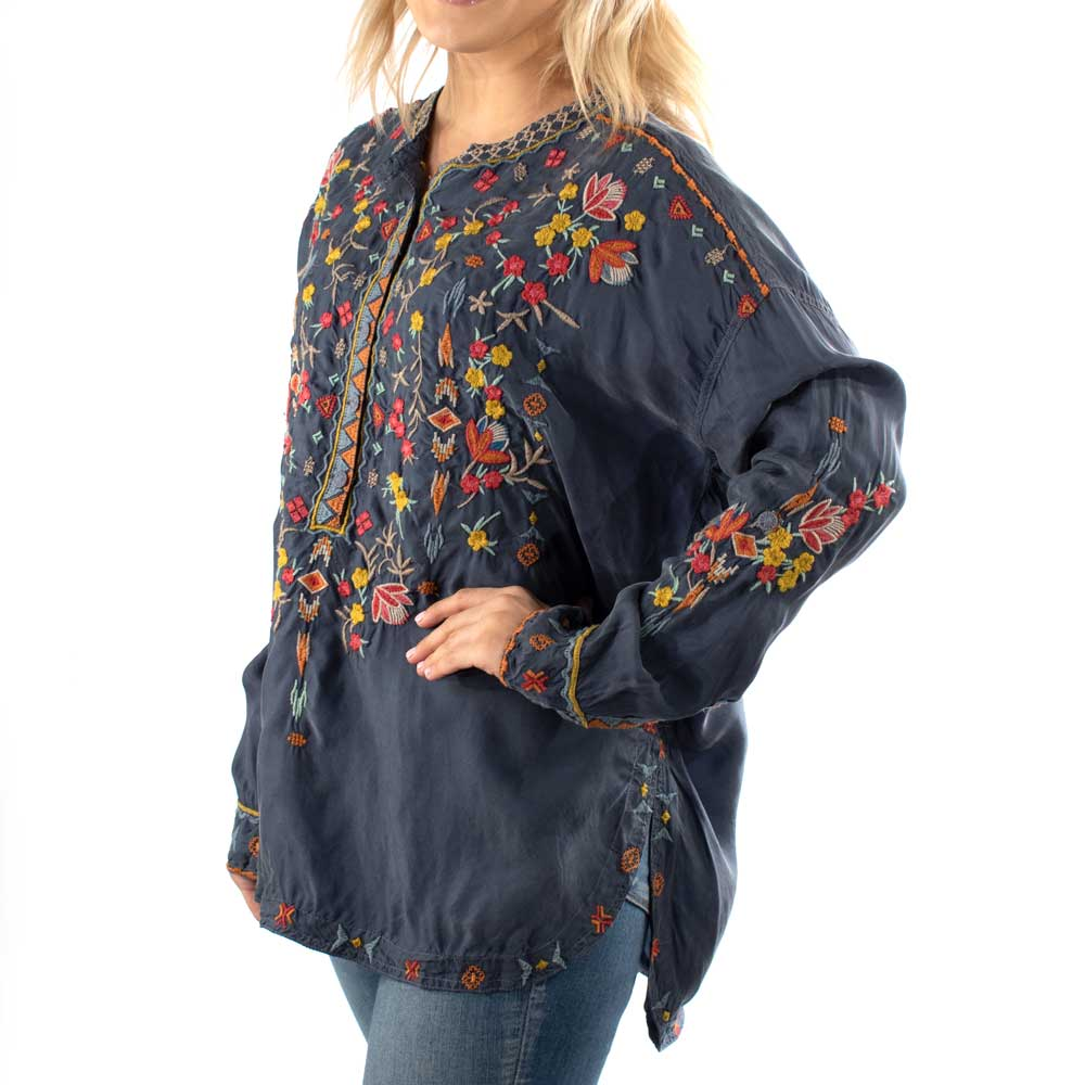 Johnny Was Feliza Cupra Blouse WOMEN - Clothing - Tops - Long Sleeved JOHNNY WAS COLLECTION Teskeys