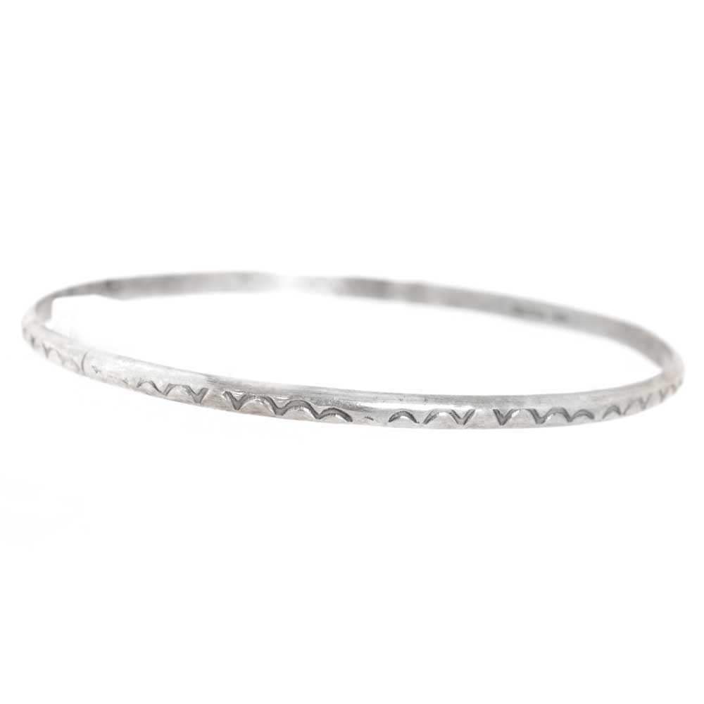 Thin Etched Sterling Bangle WOMEN - Accessories - Jewelry - Bracelets PEYOTE BIRD DESIGNS Teskeys