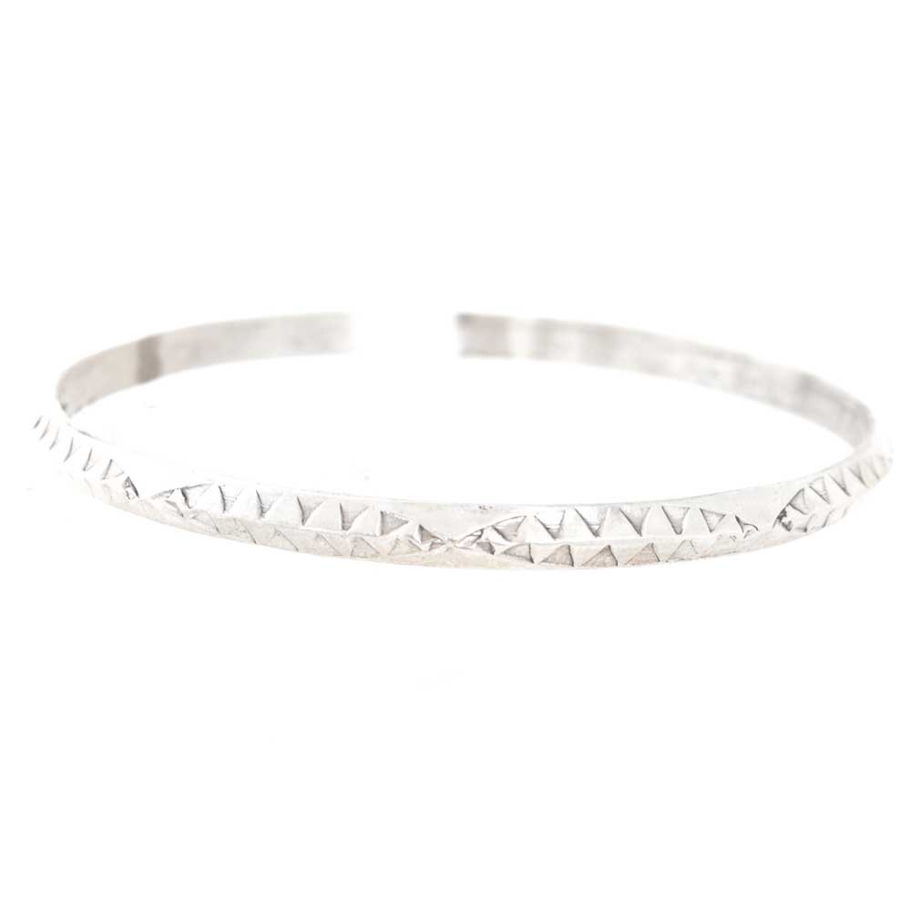 Sterling Silver Beveled Etched Bangle WOMEN - Accessories - Jewelry - Bracelets PEYOTE BIRD DESIGNS Teskeys