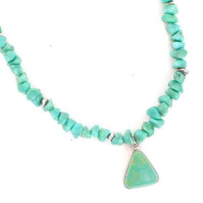 P. Lovato Turquoise Nugget Leather Necklace WOMEN - Accessories - Jewelry - Necklaces PEYOTE BIRD DESIGNS Teskeys
