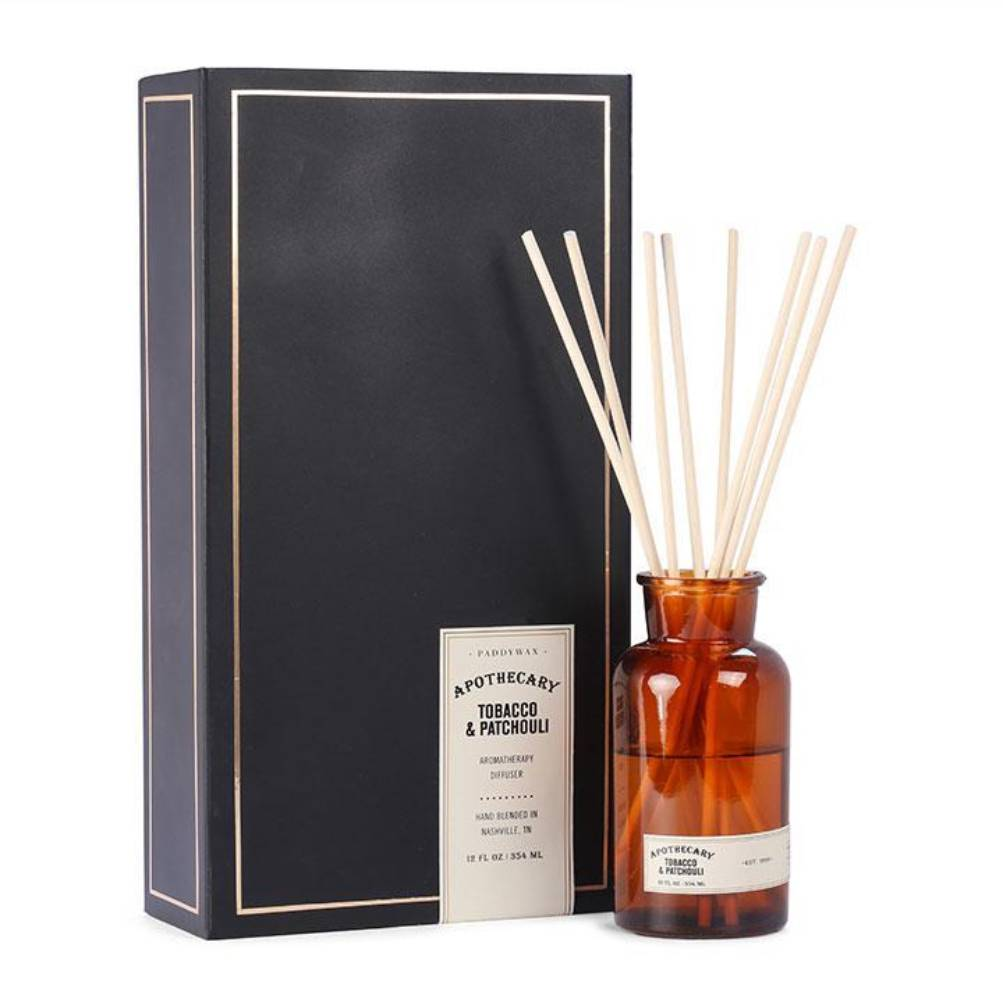 Paddywax 12oz Tobacco & Patchouli Apothecary Diffuser HOME & GIFTS - Home Decor - Candles + Diffusers Paddywax Teskeys