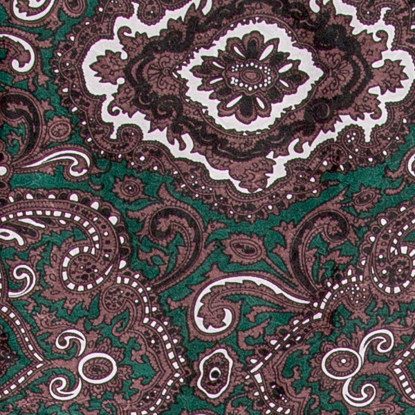Paisley Silk Wild Rag - Green & Chocolate