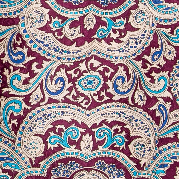Paisley Silk Wild Rag - Red & Gold