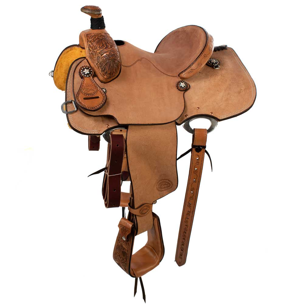 Patrick Smith Youth Natural Poinsettia Roper Saddle Saddles - New Saddles - ROPER Patrick Smith Teskeys