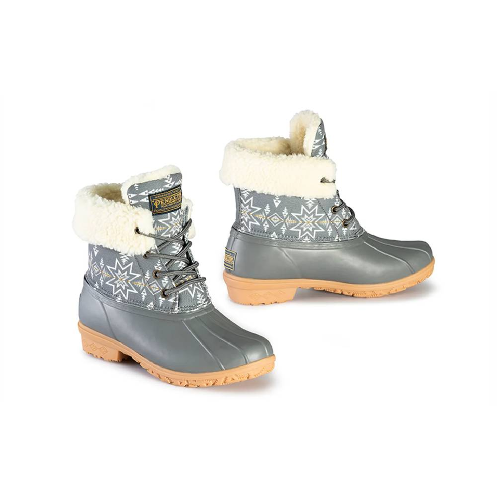 Pendleton Heritage Plains Star Duck Boot - Gray WOMEN - Footwear - Boots - Fashion Boots PENDLETON Teskeys