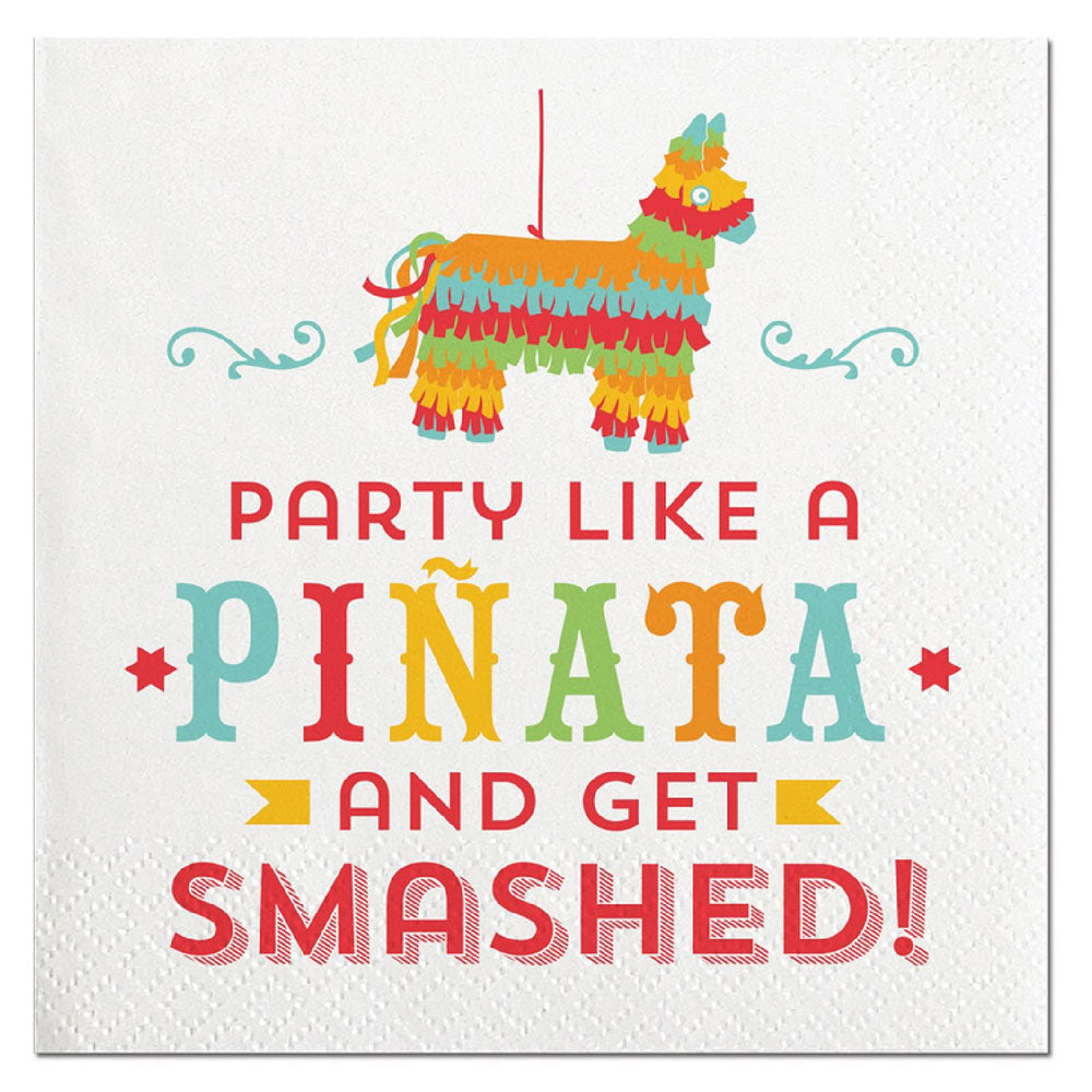 Party Like A Pinata And Get Smashed - 20ct Cocktail Napkins HOME & GIFTS - Tabletop + Kitchen CREATIVE BRANDS Teskeys