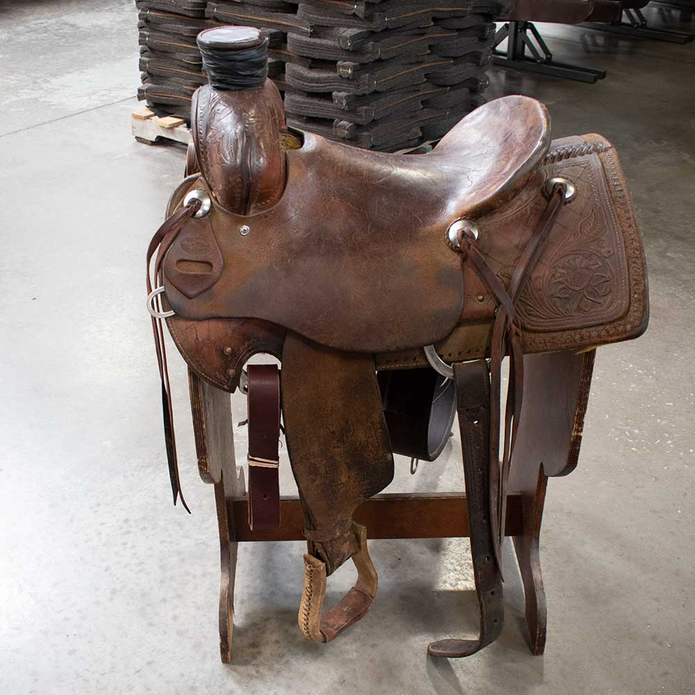 "14.5"" USED TEXAS RANCH OUTFITTERS RANCH SADDLE"