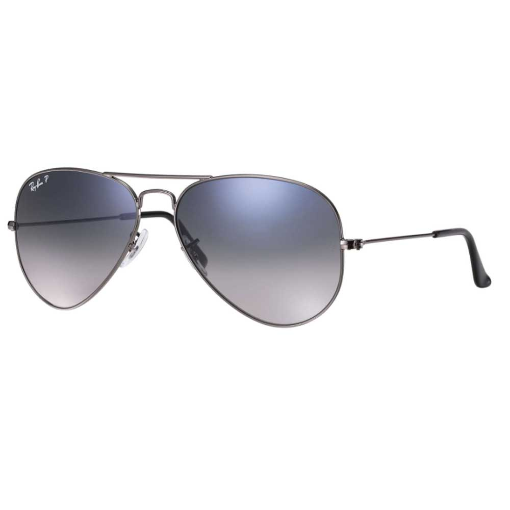 RayBan Aviator Blue/Grey Gradient Polarized Sunglasses ACCESSORIES - Additional Accessories - Sunglasses RAYBAN Teskeys