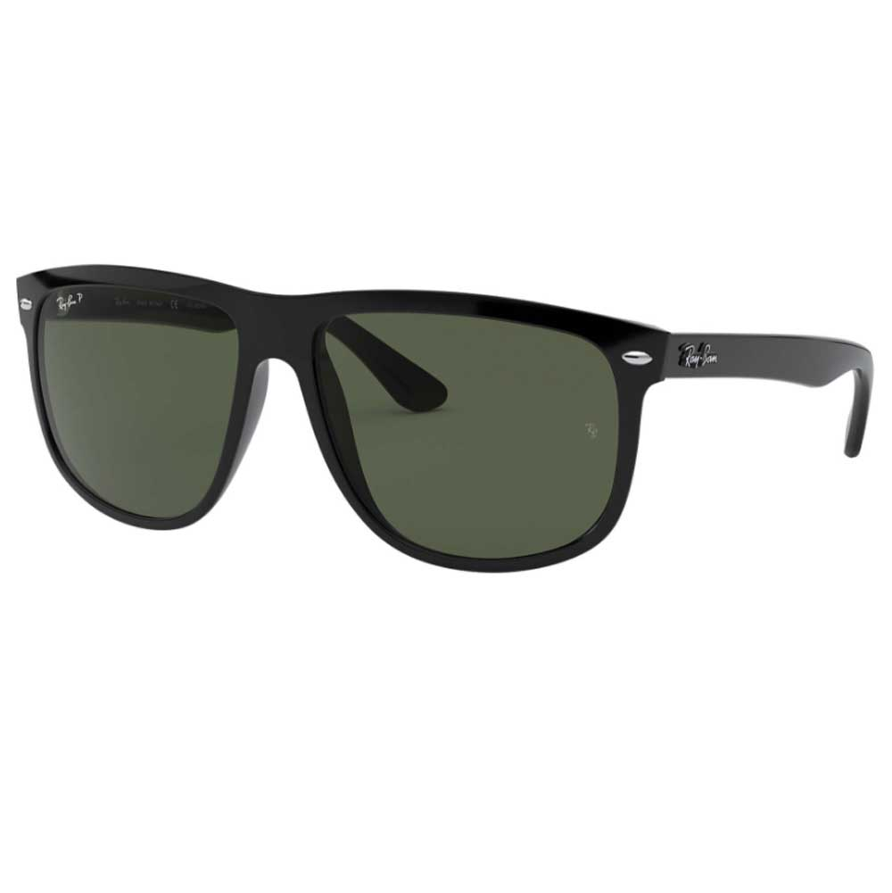 Ray-Ban Rounded Square Black Polarized Sunglasses ACCESSORIES - Additional Accessories - Sunglasses RAYBAN Teskeys
