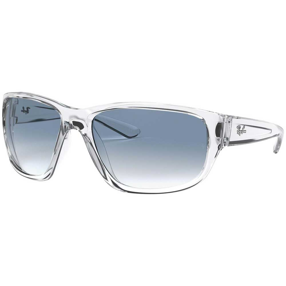 Ray-Ban Transparent Grey Wrap-around Sunglasses ACCESSORIES - Additional Accessories - Sunglasses RAYBAN Teskeys