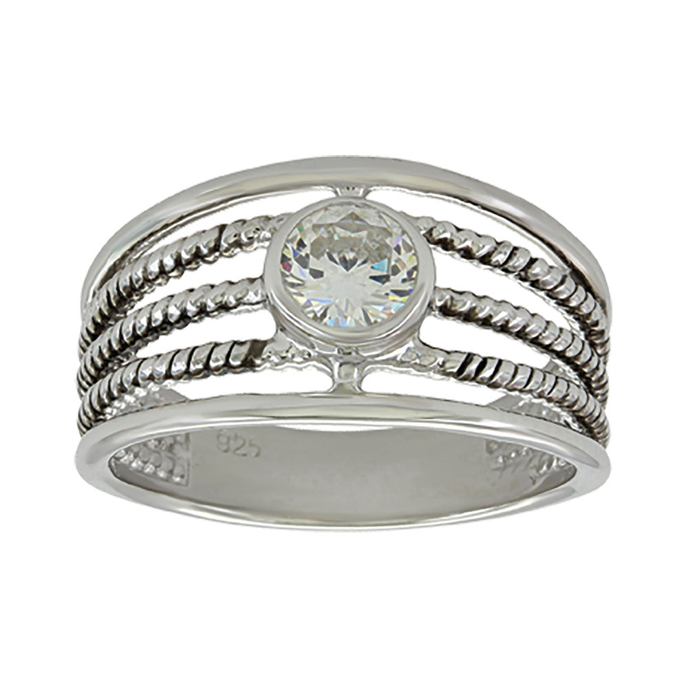 Montana Silversmiths Triple Rope Solitaire Ring WOMEN - Accessories - Jewelry - Rings Montana Silversmiths Teskeys