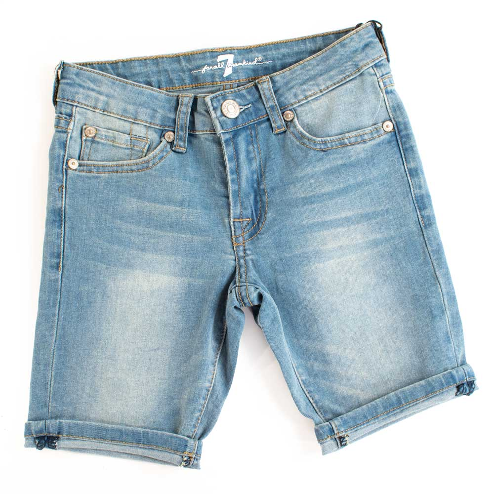 "7 For All Mankind Girls 8"" Raw Edge Bermuda Denim Shorts KIDS - Girls - Clothing - Shorts 7FAM KIDS Teskeys"