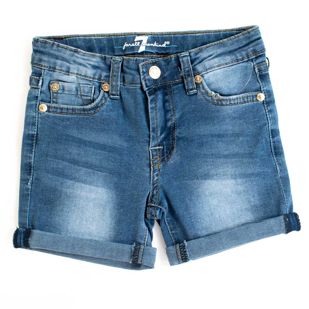 7 For All Man Kind Girls Chelsea Denim Shorts KIDS - Girls - Clothing - Shorts 7FAM KIDS Teskeys