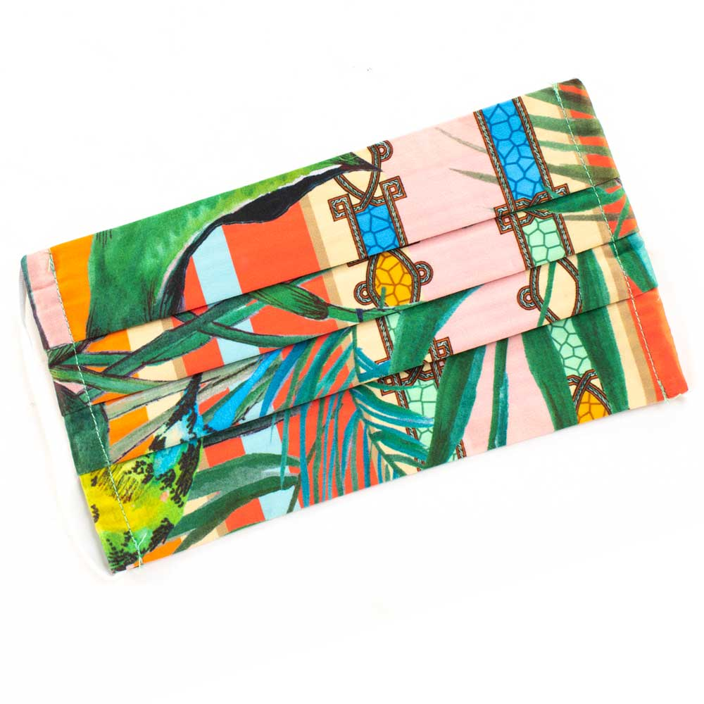 Johnny Was Tropical Silk Face Mask WOMEN - Accessories - Small Accessories JOHNNY WAS COLLECTION Teskeys