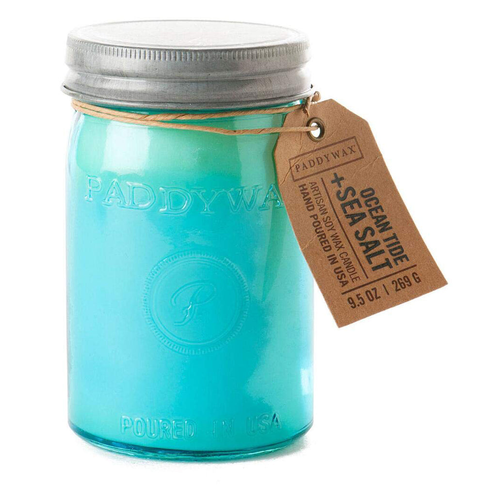 Ocean Tide + Sea Salt 9.5oz Relish Jar Candle HOME & GIFTS - Home Decor - Candles + Diffusers Paddywax Teskeys