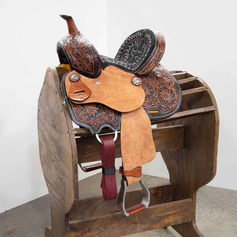 """Annie Oakley"" 10"" Pony Barrel Saddle Saddles - New Saddles - BARREL Royal King Teskeys"