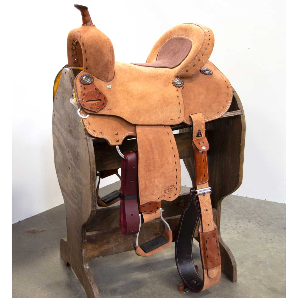 """The Tumbleweed"" 14"" Pony Barrel Saddle Saddles Royal King Teskeys"