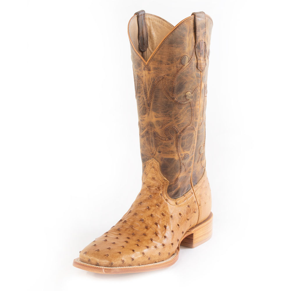 R. Watson Antique Saddle FQ Ostrich Boot MEN - Footwear - Exotic Western Boots R WATSON Teskeys