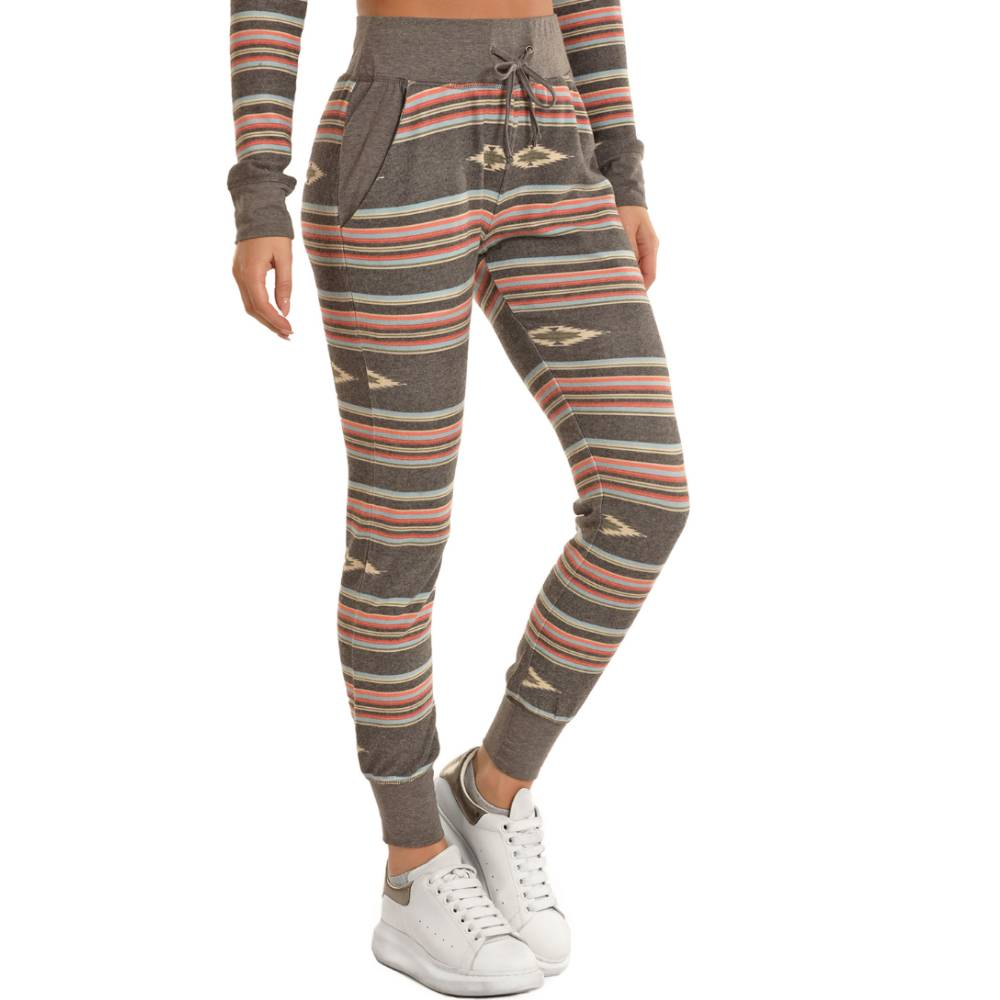 Rock & Roll Denim Aztec Print Jogger Pant