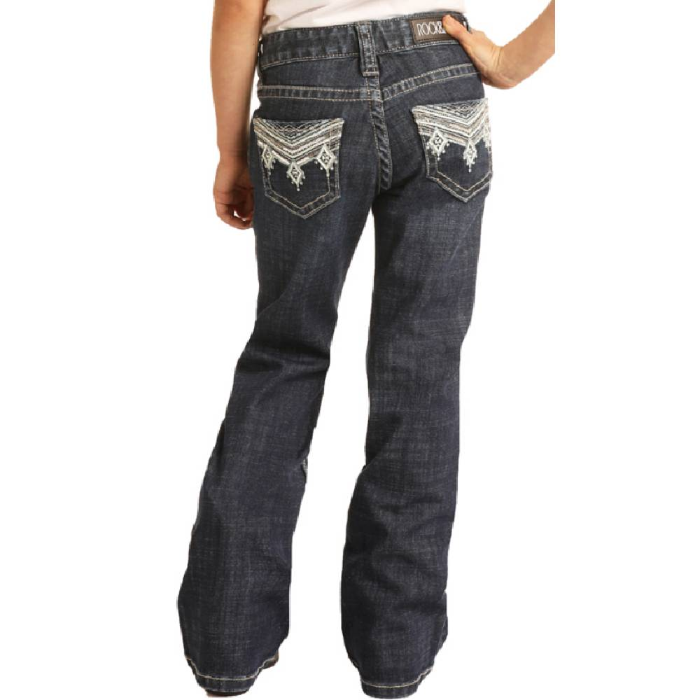 Rock & Roll Denim Girl's Dark Wash Jeans KIDS - Girls - Clothing - Jeans Panhandle Teskeys