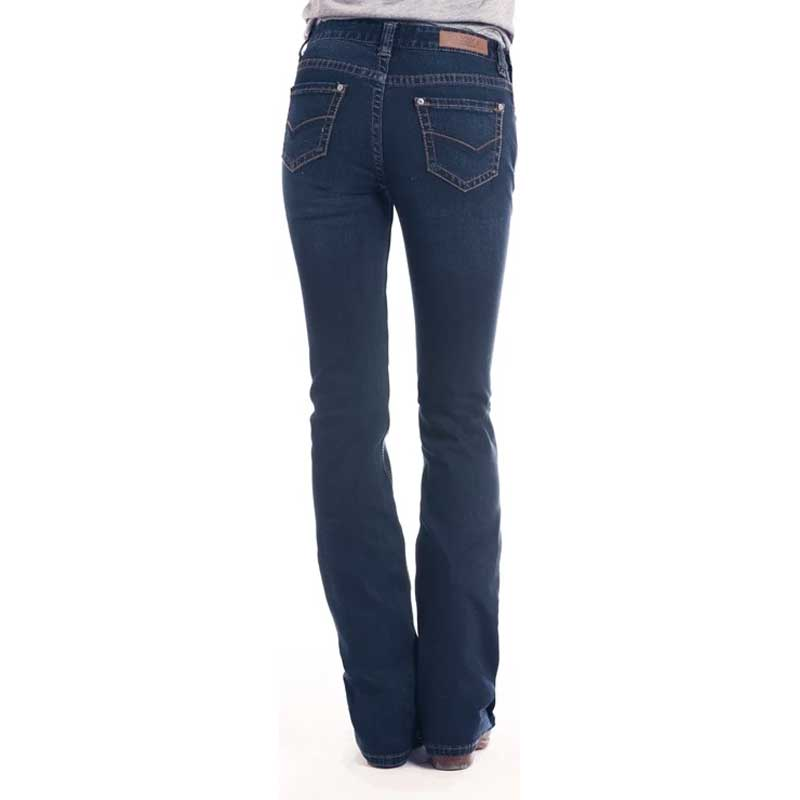 Rock & Roll Mid Rose Extra Stretch Bootcut Jean WOMEN - Clothing - Jeans PANHANDLE SLIM Teskeys