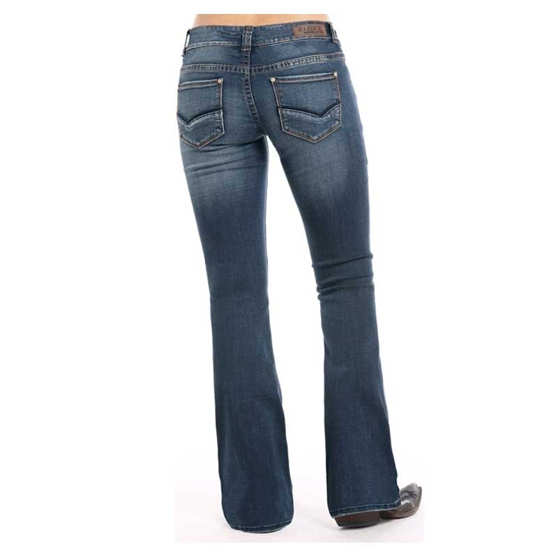 Rock & Roll Mid Rise Extra Stretch Jean WOMEN - Clothing - Jeans PANHANDLE SLIM Teskeys