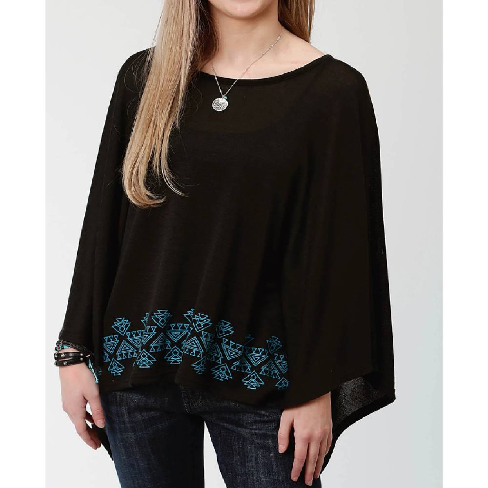 Roper Sweater Knit Poncho WOMEN - Clothing - Outerwear - Jackets ROPER APPAREL & FOOTWEAR Teskeys