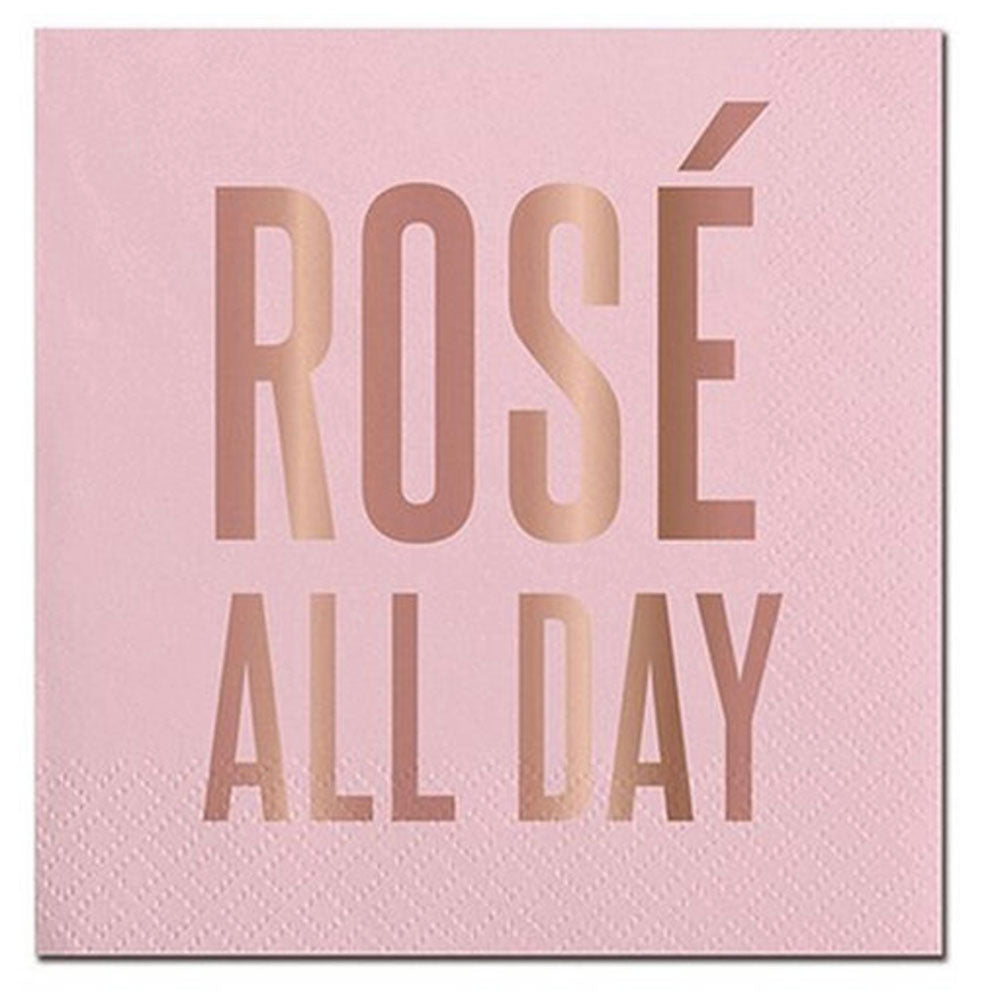 Rosé All Day Cocktail Napkins - 20ct. HOME & GIFTS - Tabletop + Kitchen - Bar Accessories CREATIVE BRANDS Teskeys