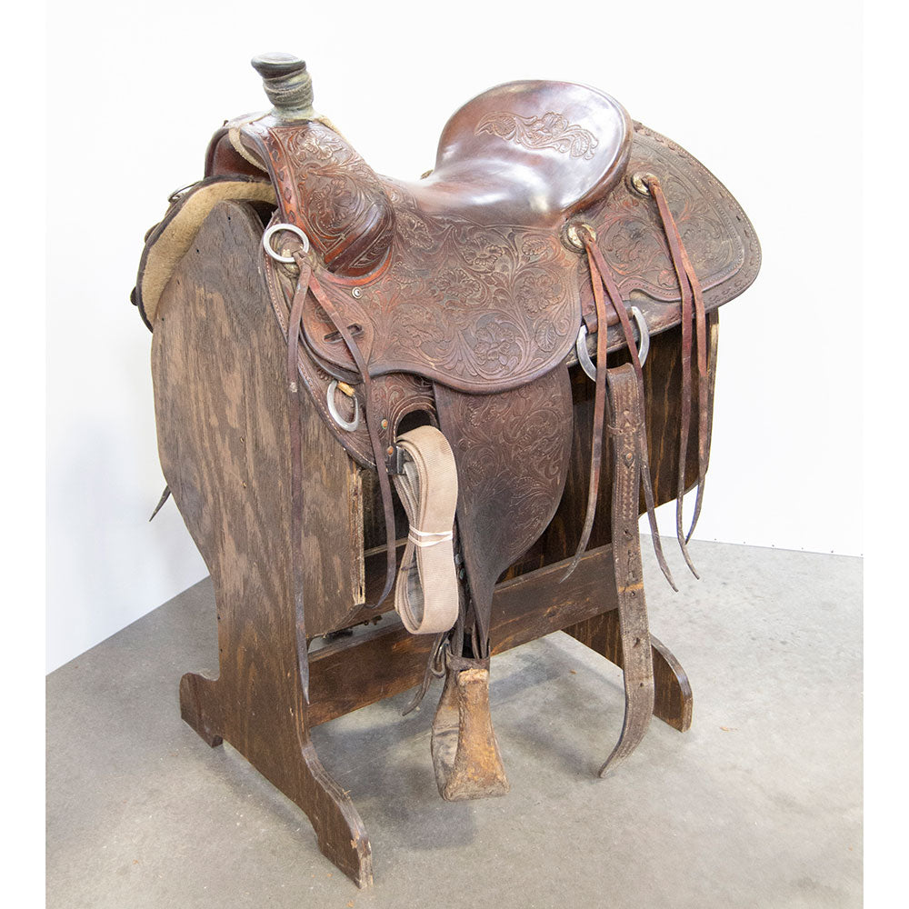 "15.5"" USED COWPUNCHER RANCH SADDLE Saddles - Used Saddles - RANCH Cowpuncher Teskeys"