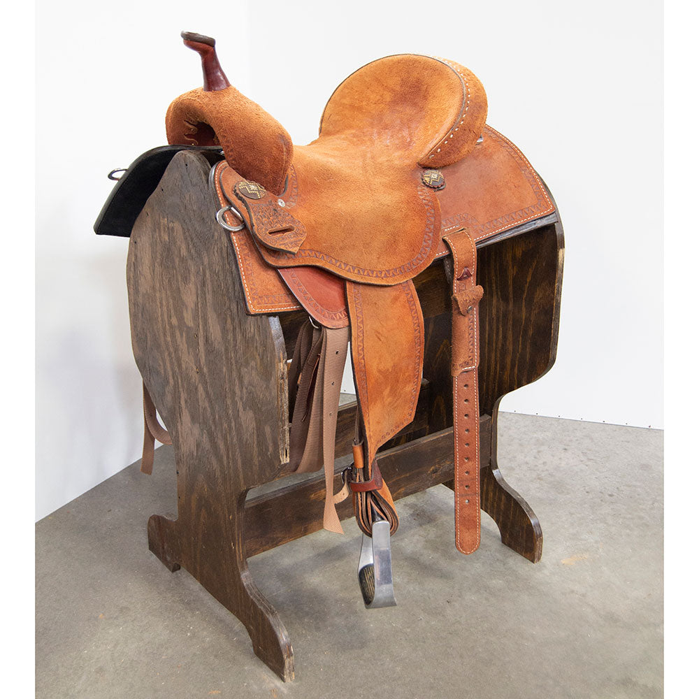 "14.5"" USED DOUBLE J BARREL SADDLE"