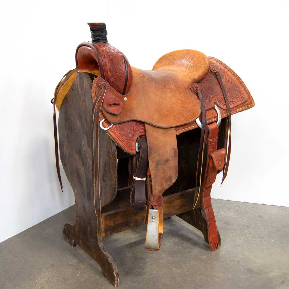 "16.5"" USED TEXAS RANCH OUTFITTERS RANCH SADDLE Saddles - Used Saddles - RANCH Texas Ranch Outfitters Teskeys"