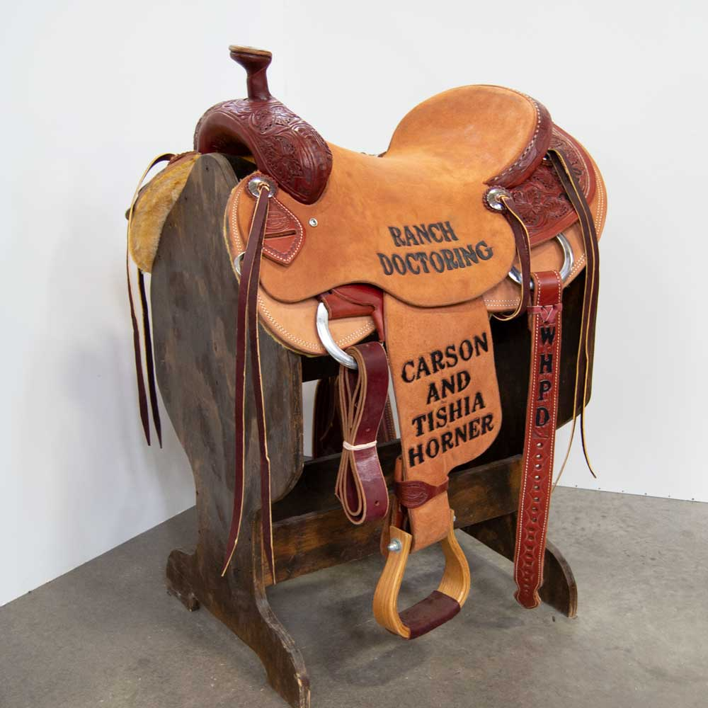 "16"" USED TESKEY'S RANCH SADDLE"