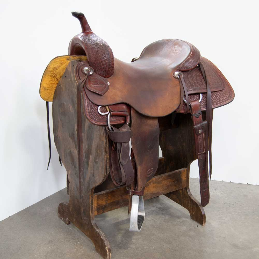 "17"" USED WELDONS SADDLE SHOP CUTTING SADDLE"