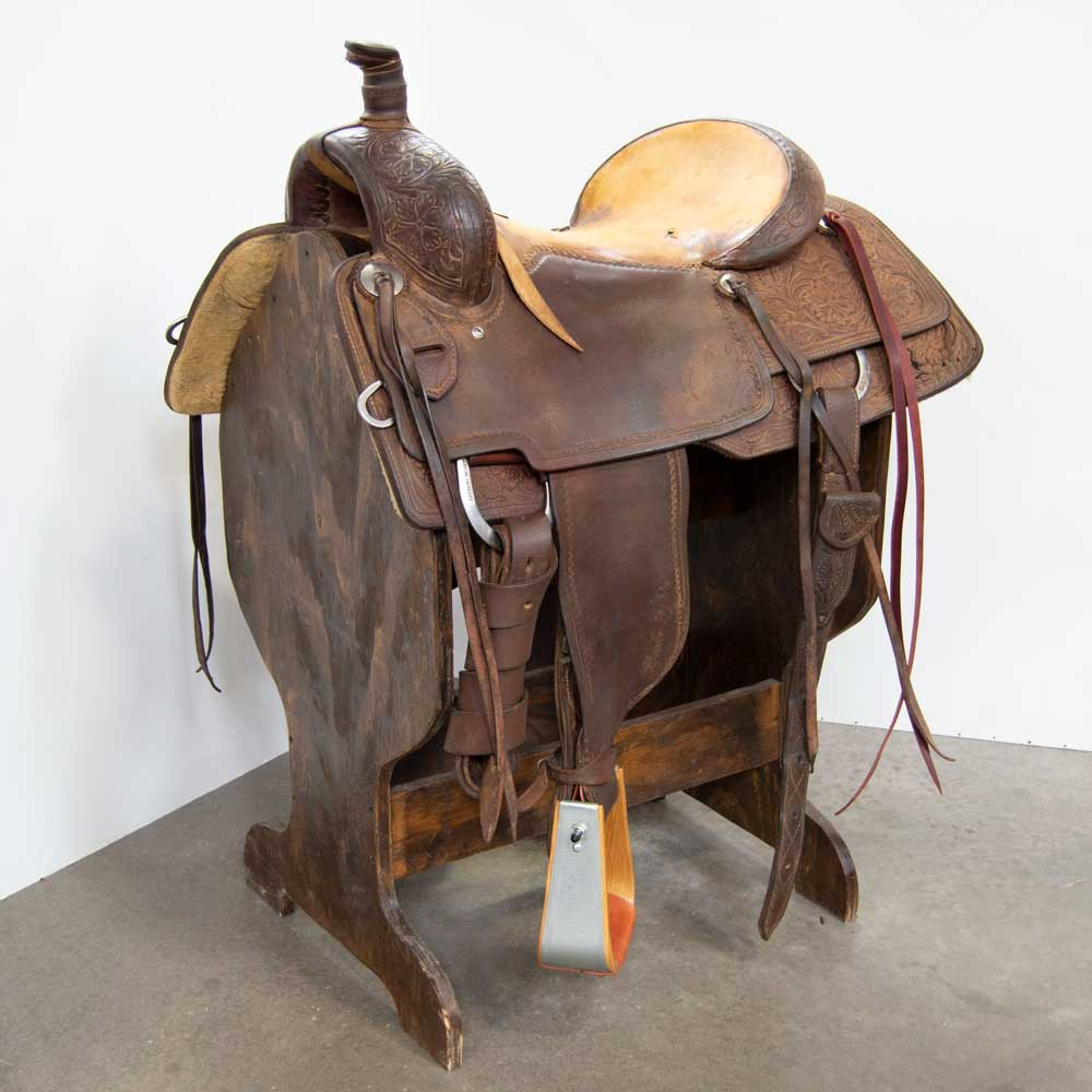 "16"" USED MARTIN SADDLERY RANCH ROPING SADDLE"