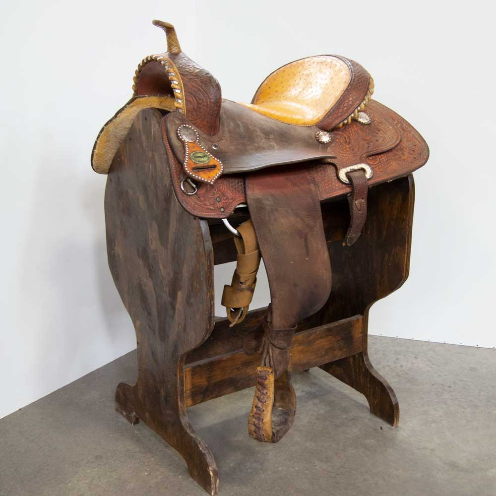 "15"" USED BILLY COOK BARREL SADDLE"