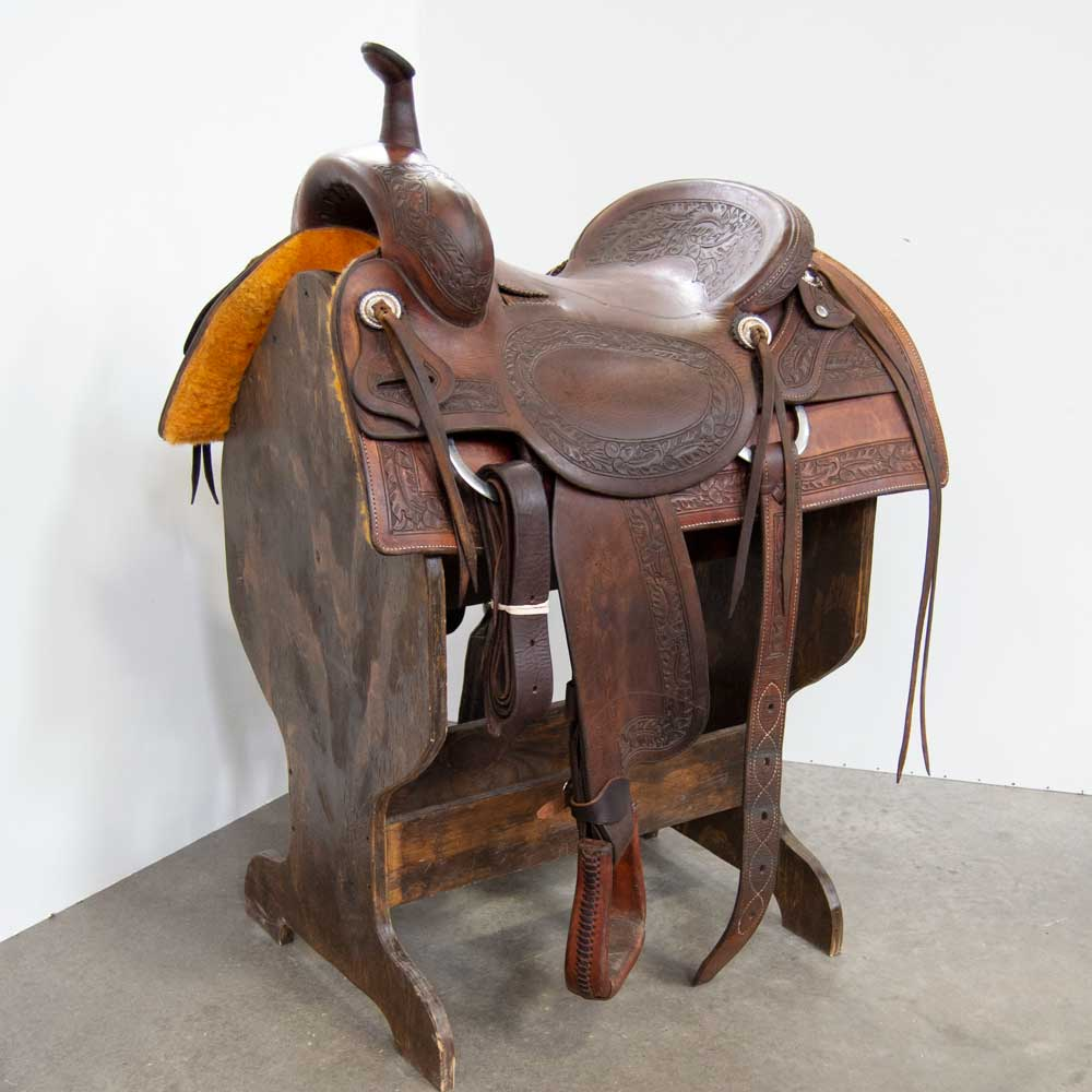 "16.5"" USED JIM MCNULTY CUTTING SADDLE Saddles - Used Saddles - CUTTER Jim McNulty Teskeys"