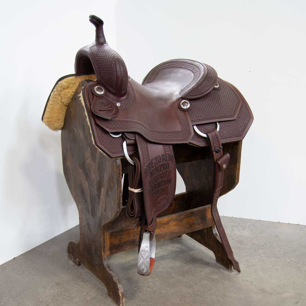 "15"" USED REVALATION SERIES CUTTING SADDLE Saddles - Used Saddles - CUTTER Revalation Series Teskeys"