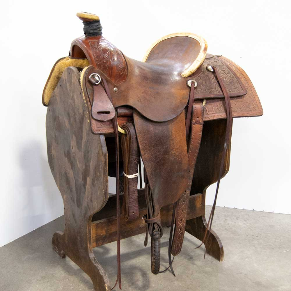 "14.5"" USED KD HEMIMINGSON RANCH SADDLE Saddles - Used Saddles - RANCH KD Hemmingson Teskeys"