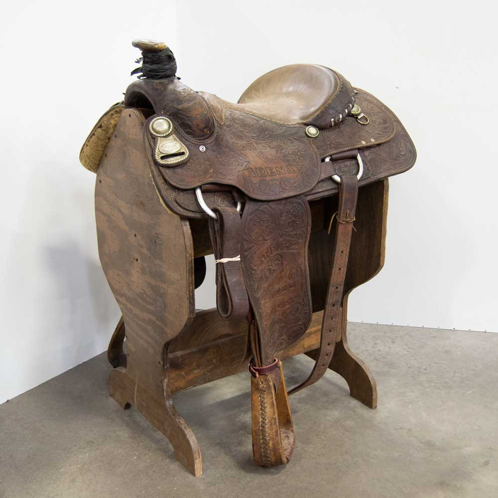 "15"" USED BILLY COOK ROPING SADDLE"