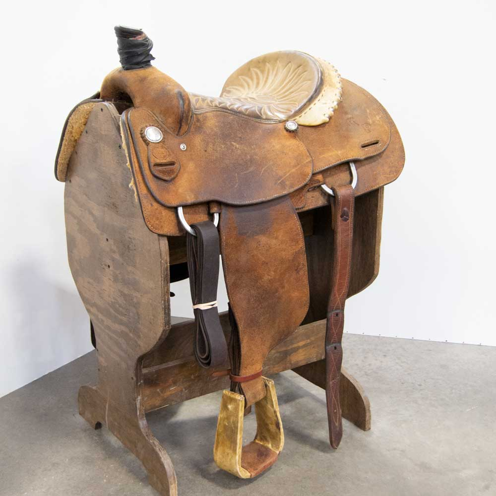 "14.5"" USED ROPING SADDLE"