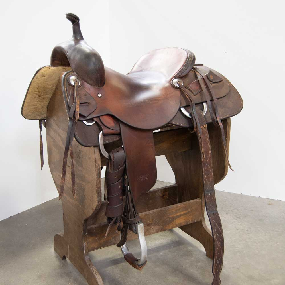 "15.5"" USED JEFF SMITH RANCH CUTTING SADDLE"
